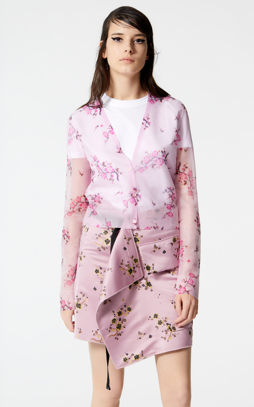 PASTEL PINK 'Cheongsam Flower' cardigan for women KENZO