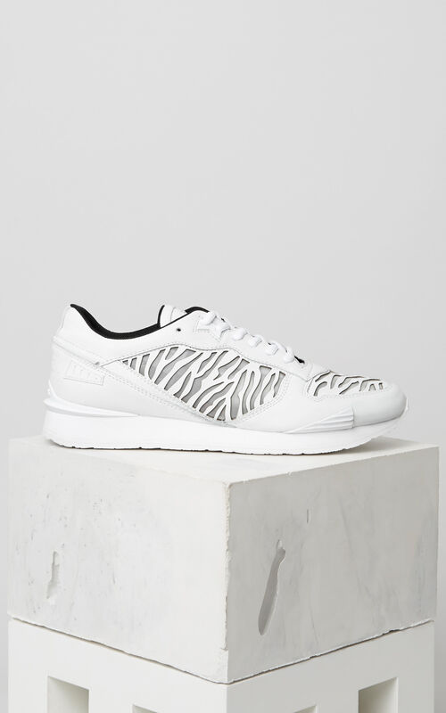 WHITE Tiger Stripes K-Run for men KENZO