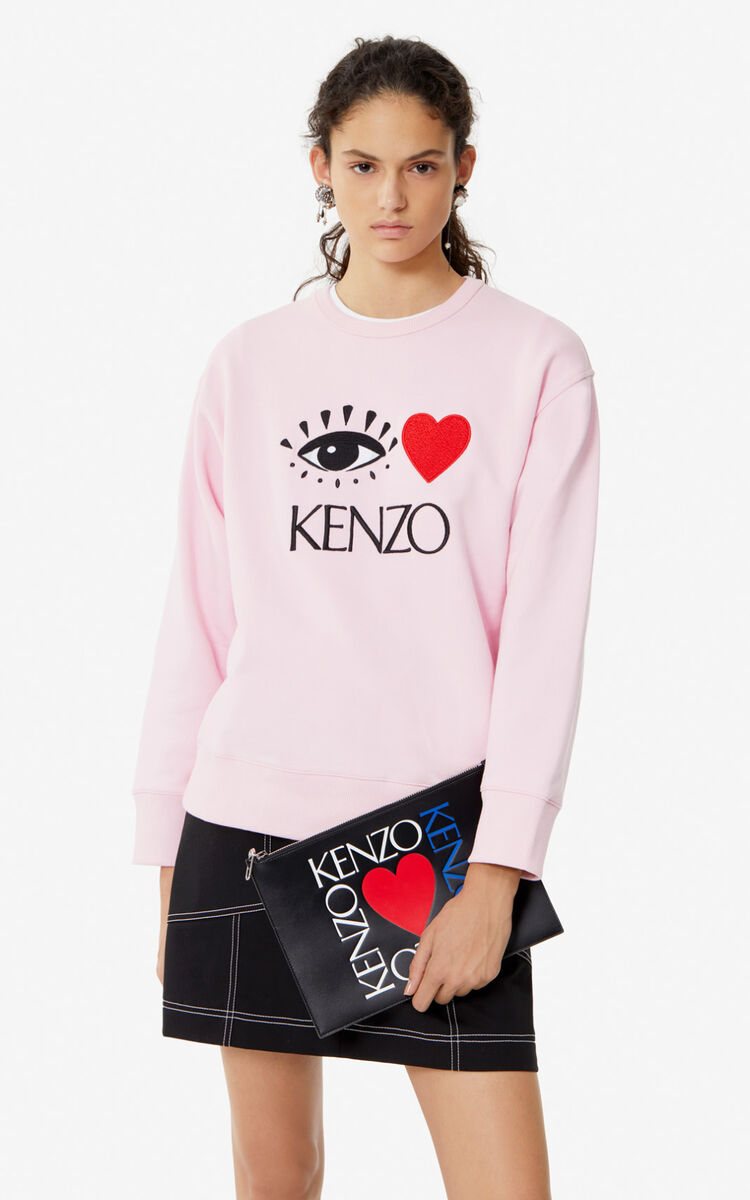 FLAMINGO PINK 'Cupid' sweatshirt for women KENZO