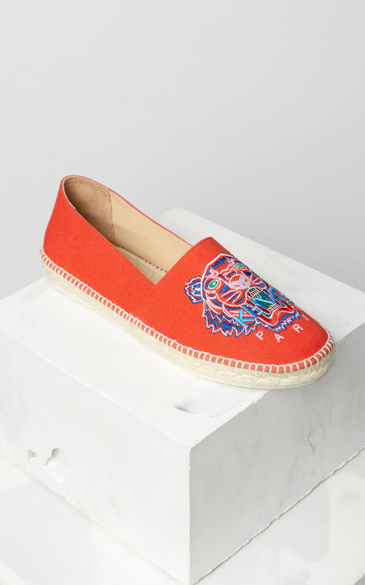 MEDIUM RED Tiger espadrilles for men KENZO