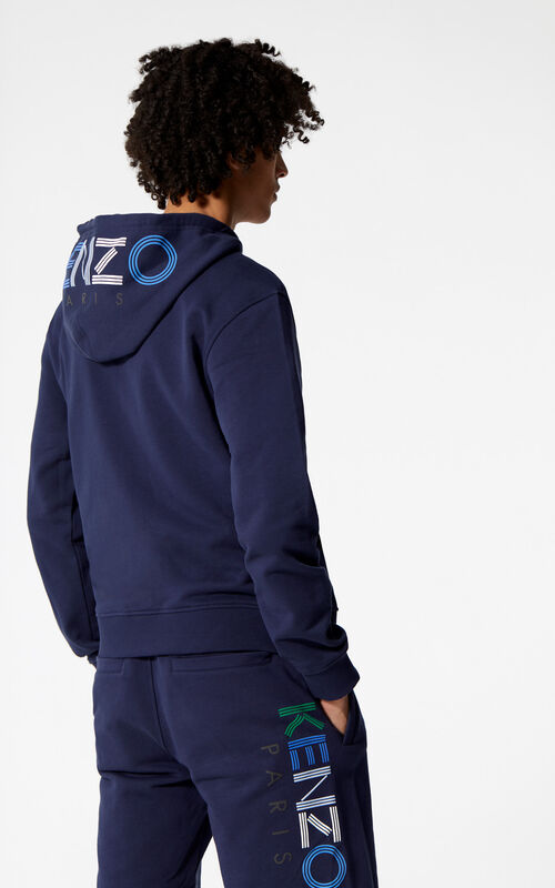 Multicolor KENZO Logo Hoodie for men