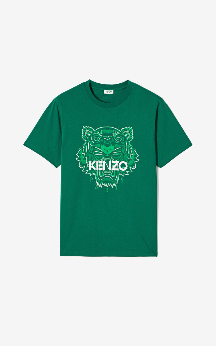 GRASS GREEN Two-tone Tiger t-shirt for men KENZO