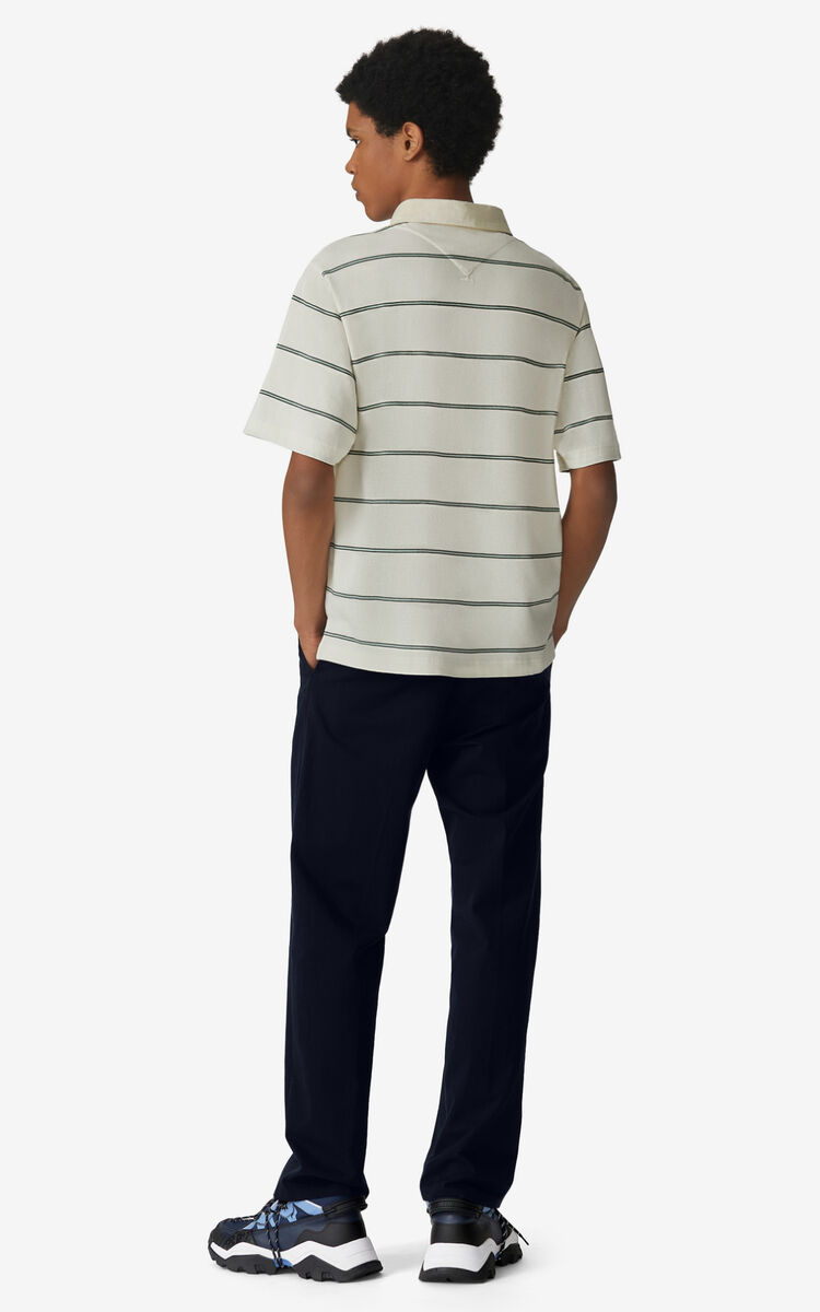 ECRU Oversize striped polo for men KENZO