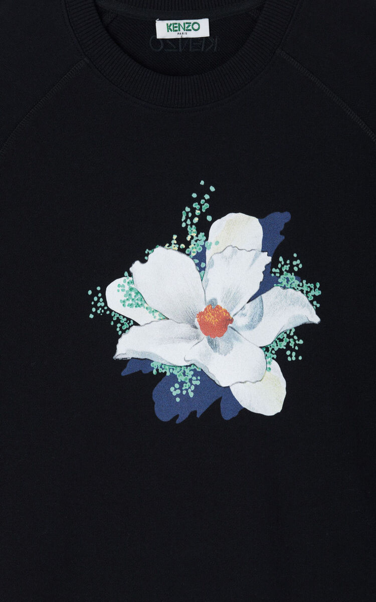 BLACK 'Gardenias' sweatshirt for women KENZO