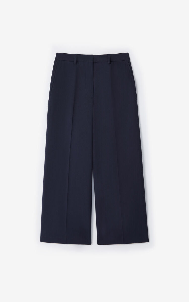 NAVY BLUE Cropped trousers for women KENZO