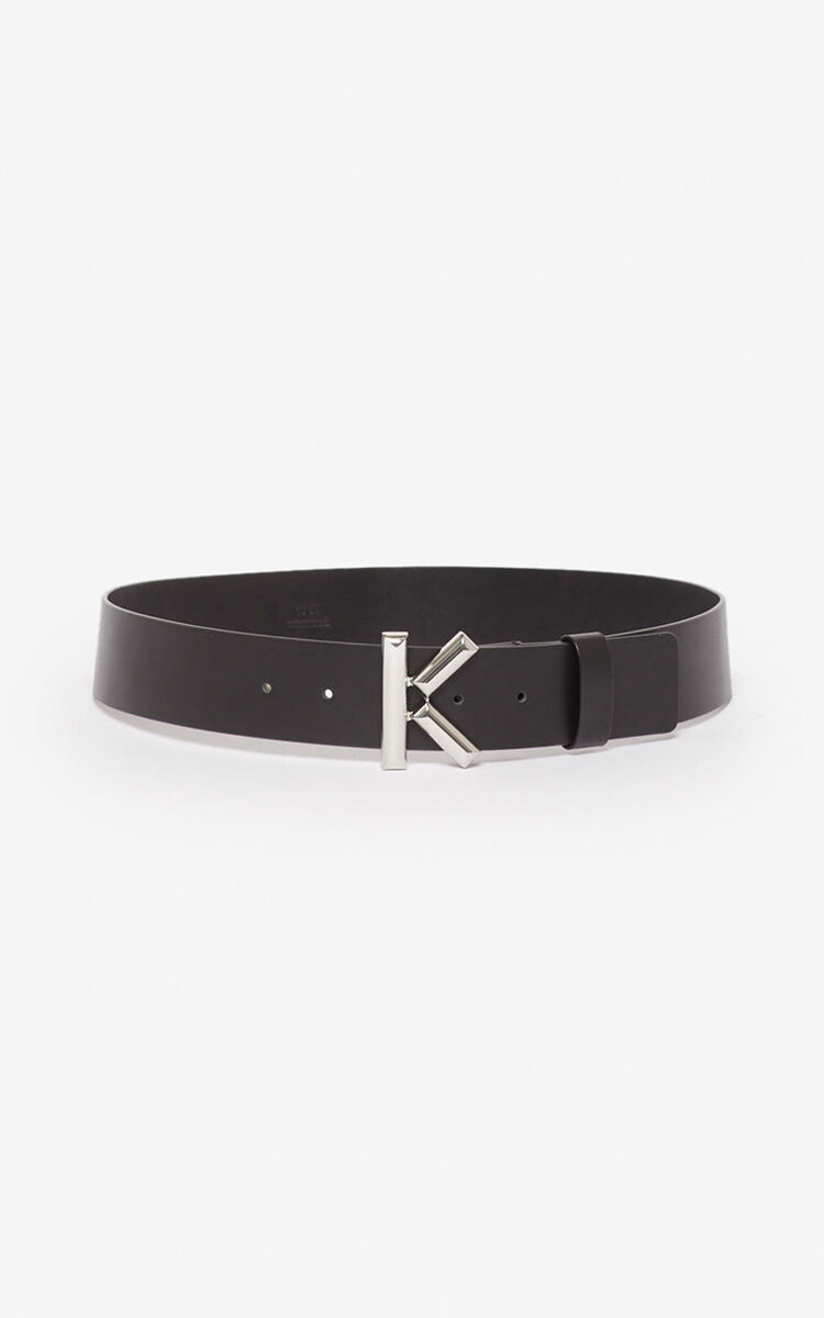 BLACK Wide K belt for unisex KENZO