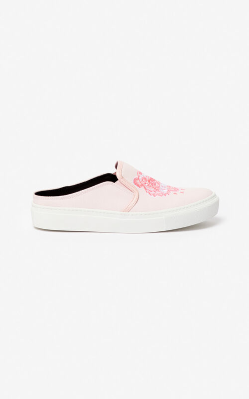 PASTEL PINK K-Skate Tiger slip-on mules for unisex KENZO