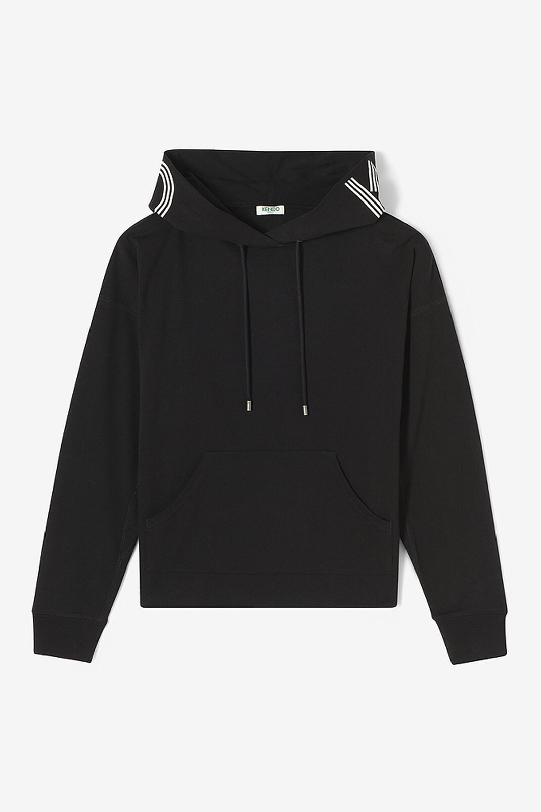 BLACK KENZO Logo Hoodie for women