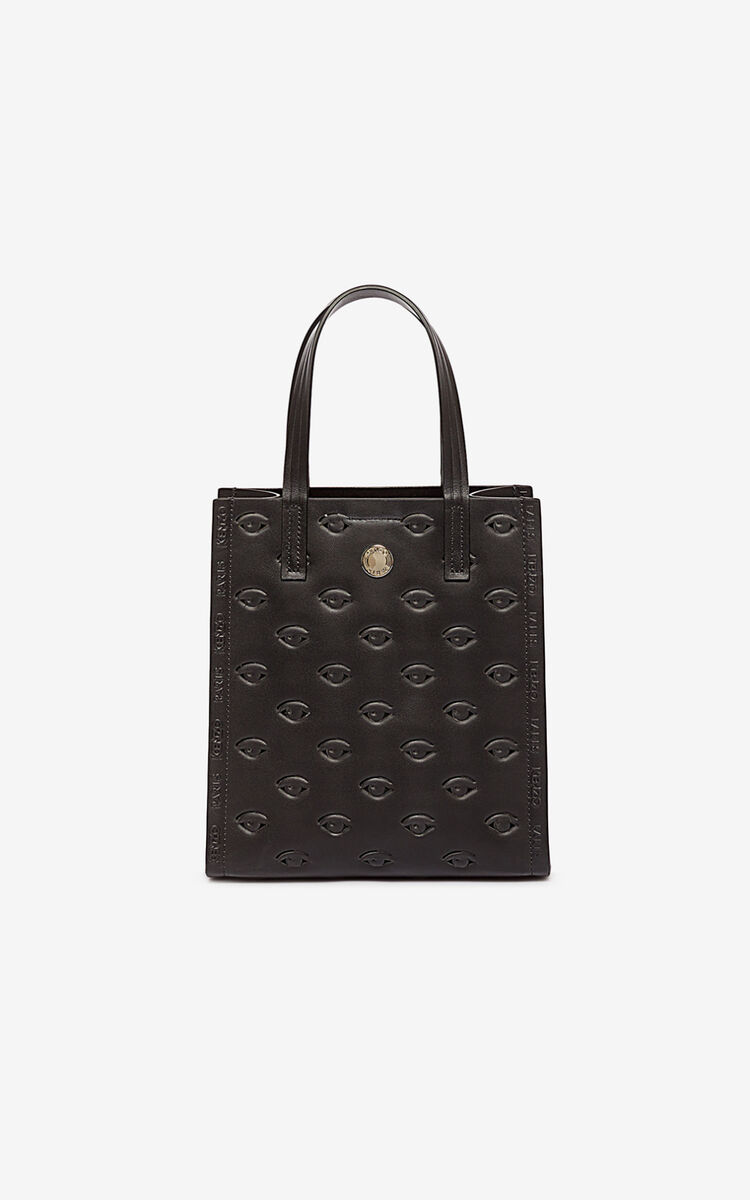 BLACK Small Blink multi-Eye tote for unisex KENZO
