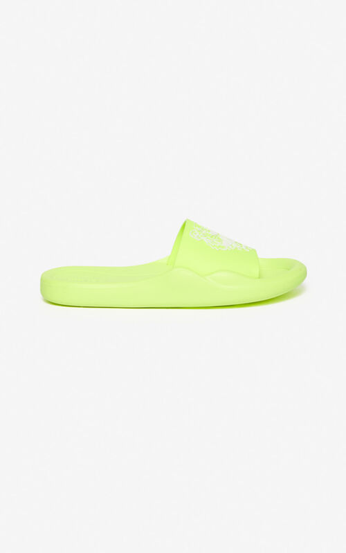 LEMON Tiger Pool Mules for unisex KENZO