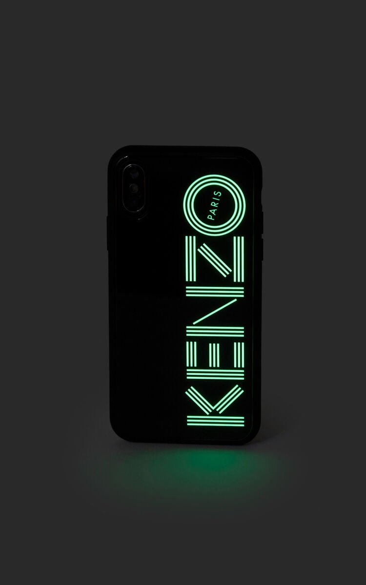 BLACK Fluorescent KENZO Logo case for iPhone X/XS for unisex