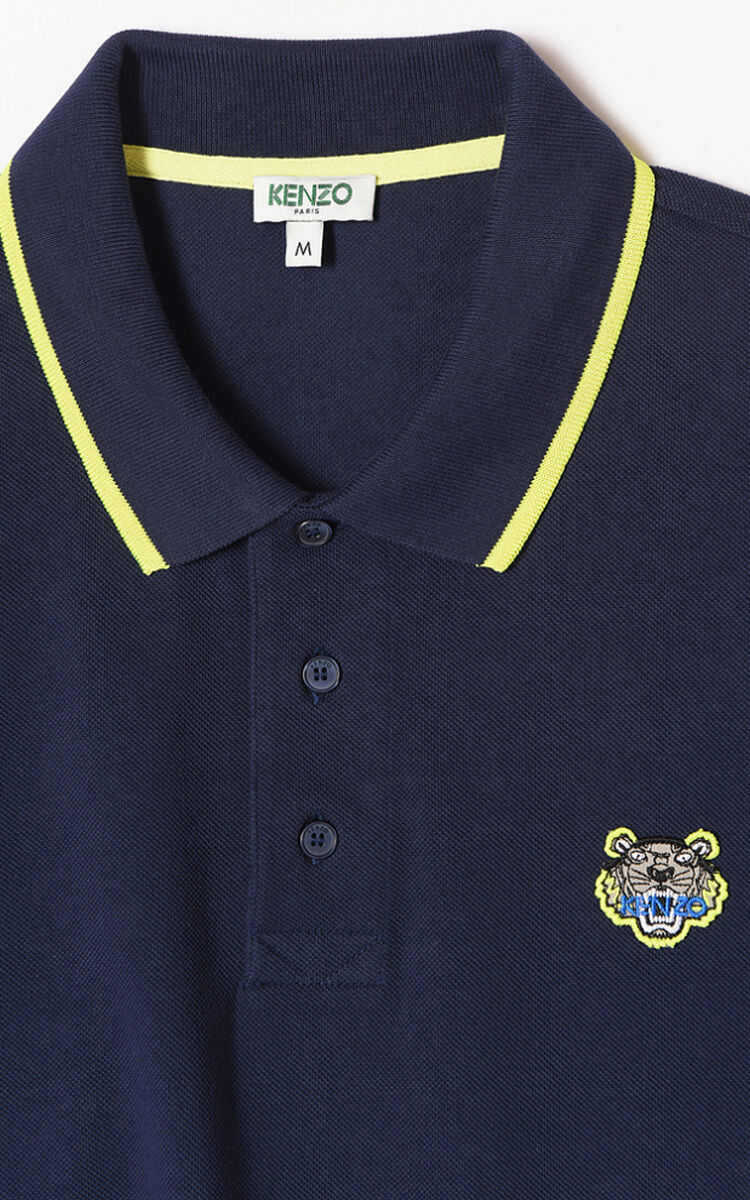 INK Long sleeve Tiger polo shirt  for men KENZO