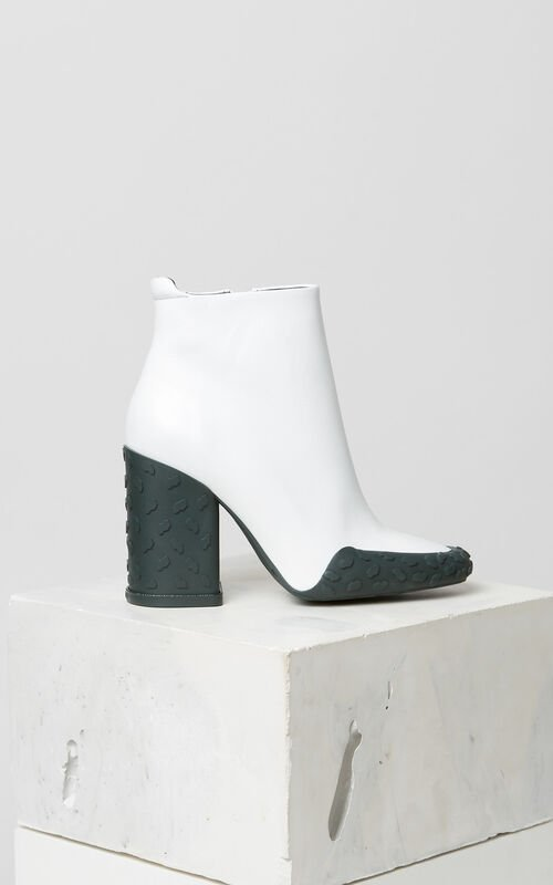 WHITE KENZO Move heeled ankle boots for unisex