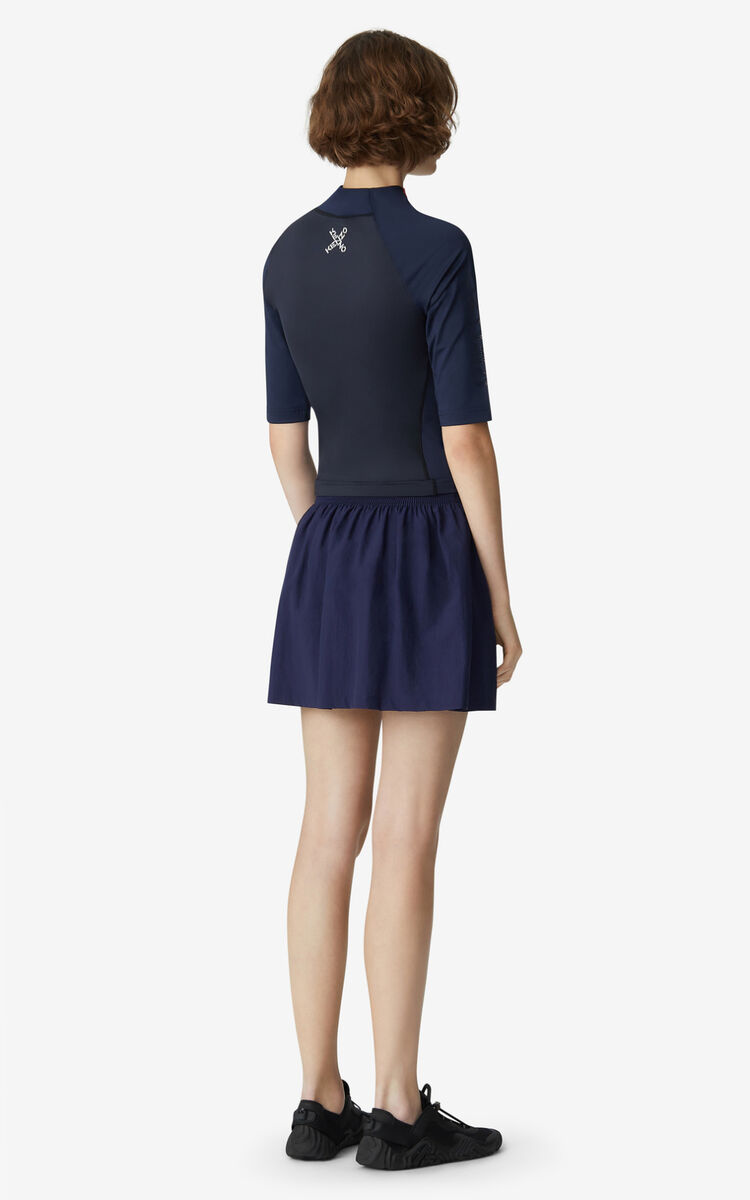 MIDNIGHT BLUE KENZO Sport slim-fit top for women