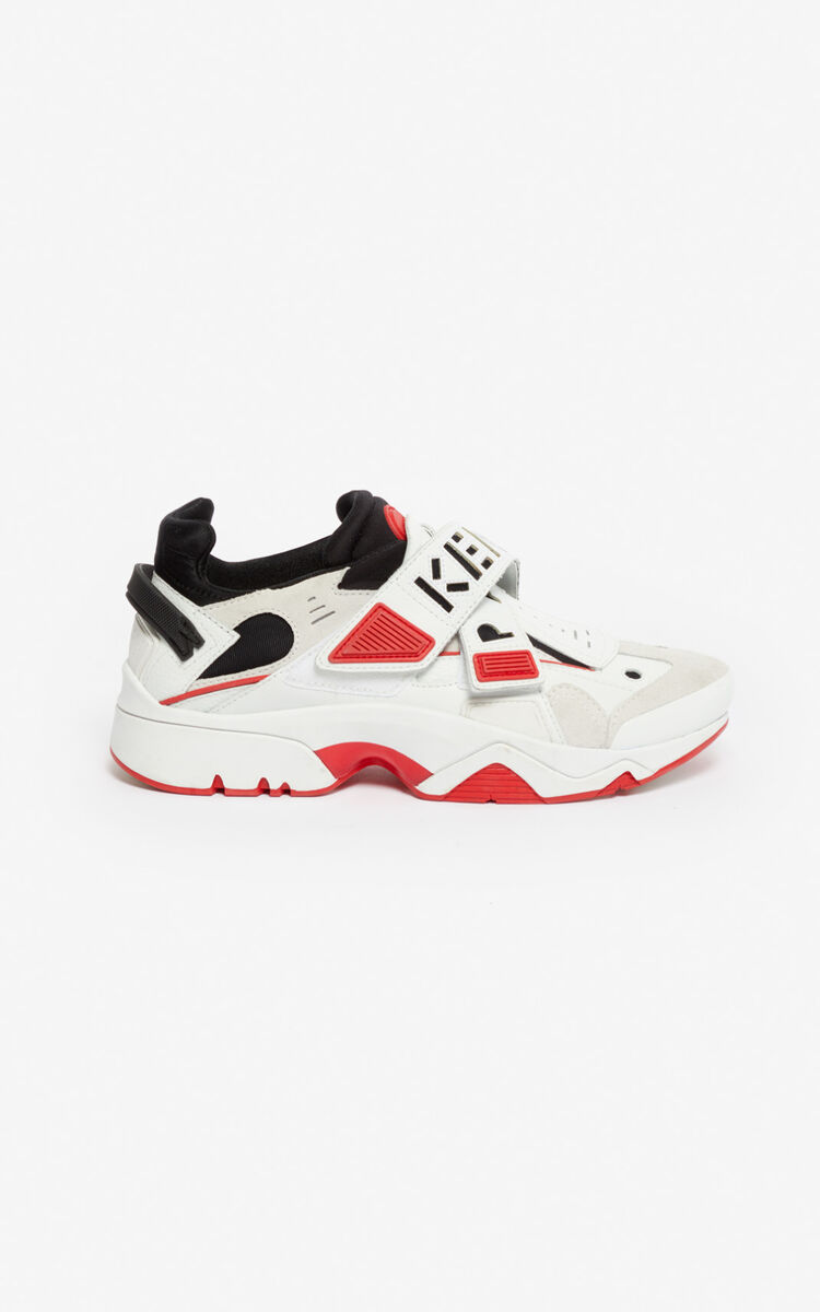 MEDIUM RED Sonic Velcro sneakers for unisex KENZO