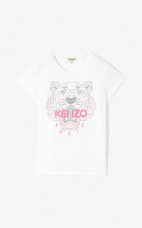 4ba29041 WHITE Tiger T-shirt for men KENZO ...