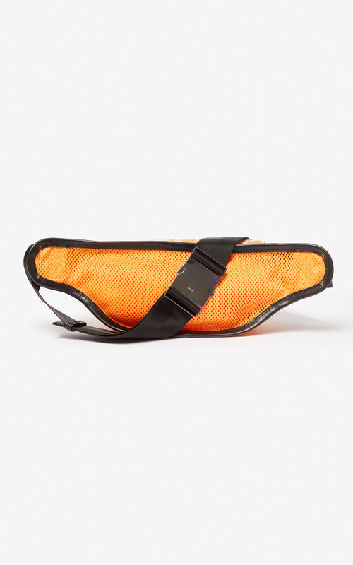 MEDIUM ORANGE KENZO mesh logo belt-bag for unisex