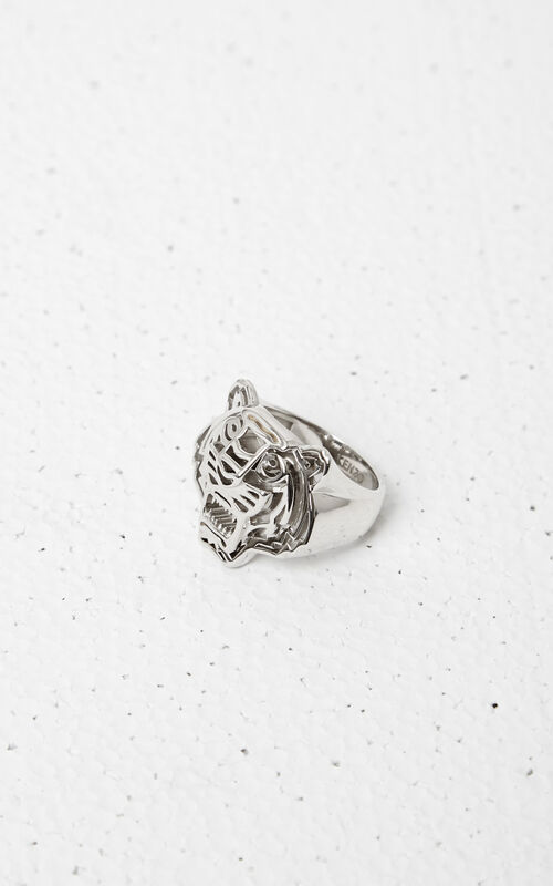 SILVER 3D Tiger Ring for unisex KENZO