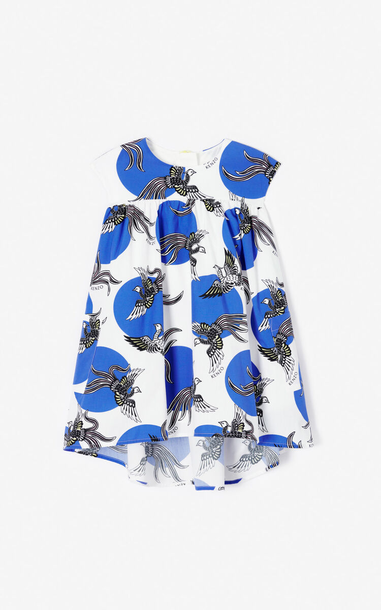 WHITE 'Phoenix Celebration' dress for women KENZO