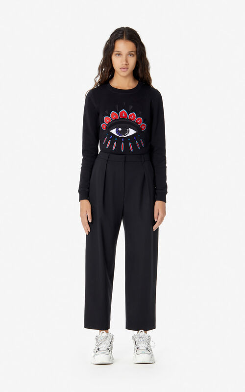 BLACK 'Holiday Capsule' Eye sweatshirt for women KENZO