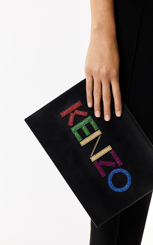 BLACK 'Holiday Capsule' A4 KENZO Clutch Bag for men