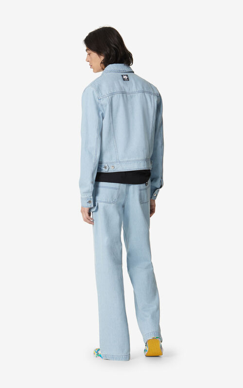 SKY BLUE Faded denim jacket for men KENZO
