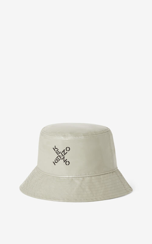 DOVE GREY KENZO Sport 'Little X' bucket hat for men