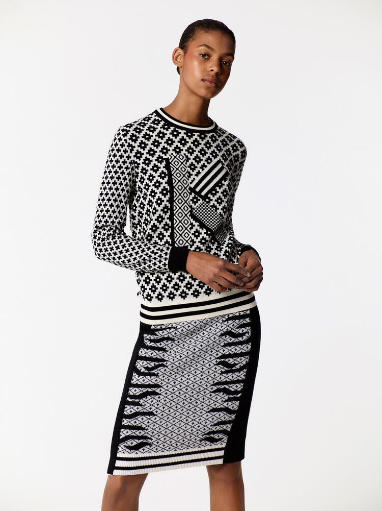 BLACK Fair Isle' K Jumper  for women KENZO