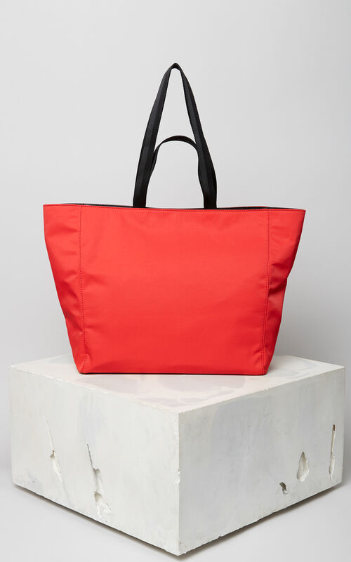 MEDIUM RED KENZO Logo tote bag for women
