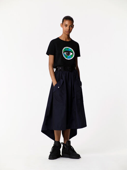 BLACK 'Peace World x Eye' t-shirt for women KENZO