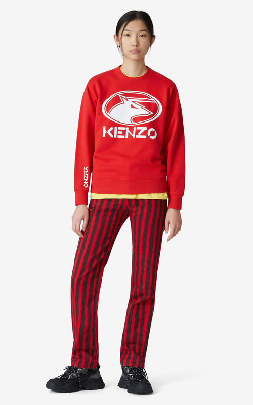 MEDIUM RED 'KENZO Ox' sweatshirt for women