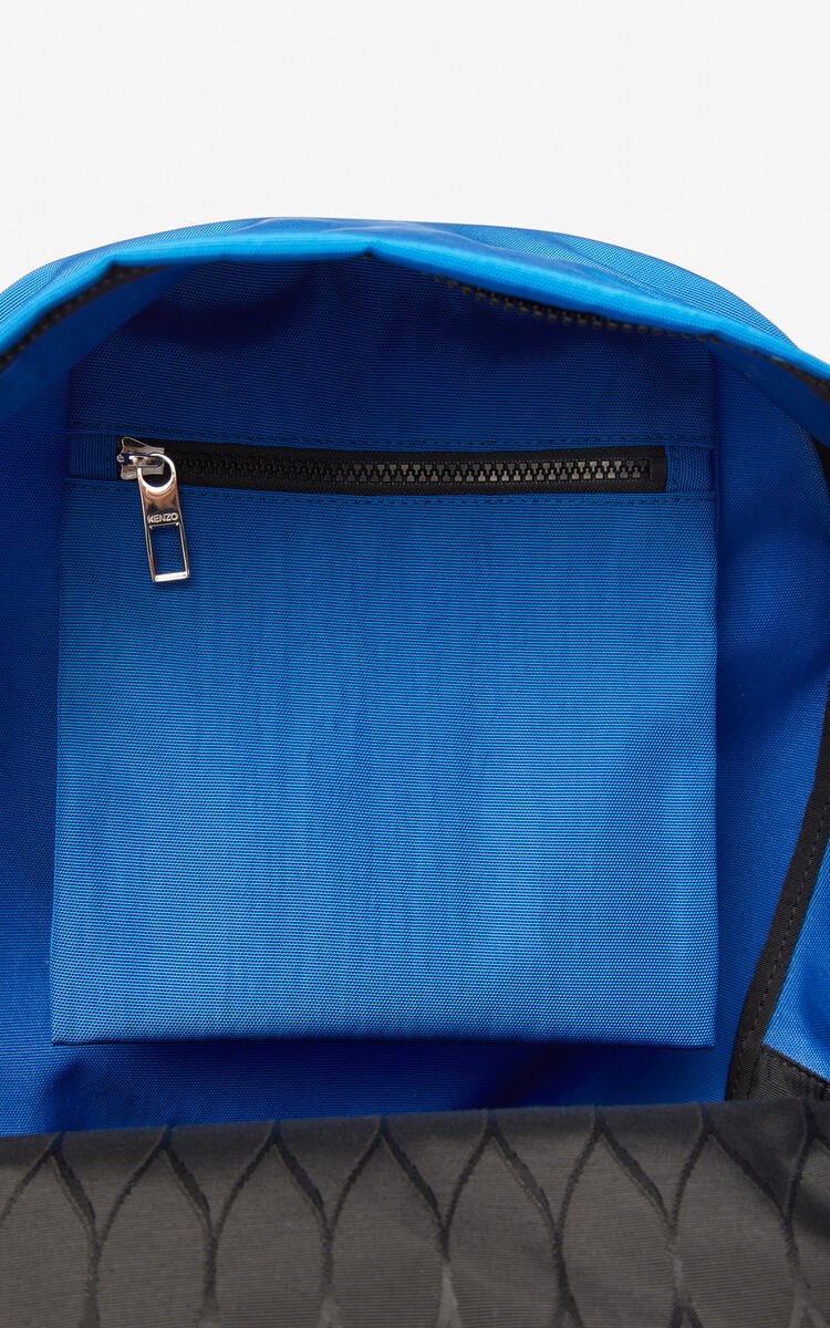 COBALT Large Tiger Canvas backpack for unisex KENZO