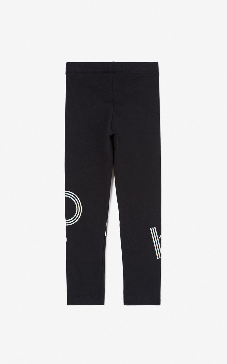 BLACK KENZO logo leggings for men