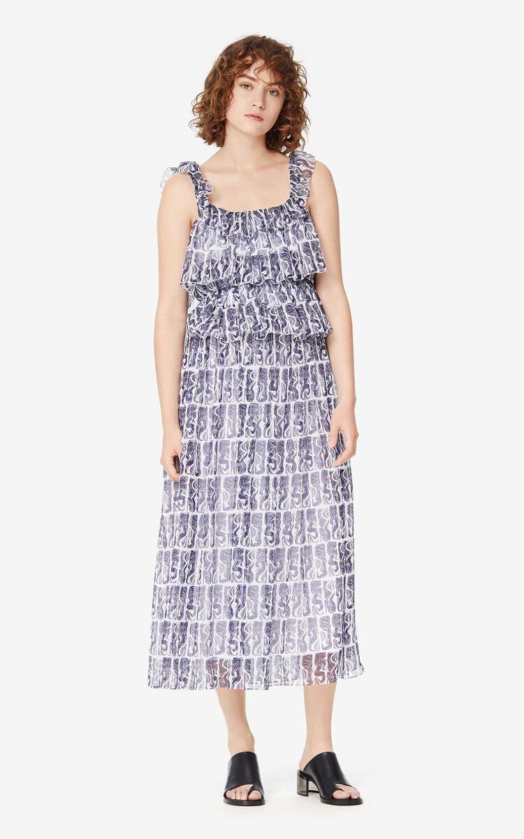 WHITE 'Mermaids' midi dress for women KENZO