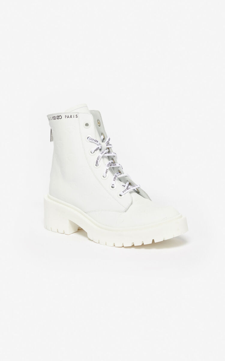 WHITE Pike Eye boots for unisex KENZO
