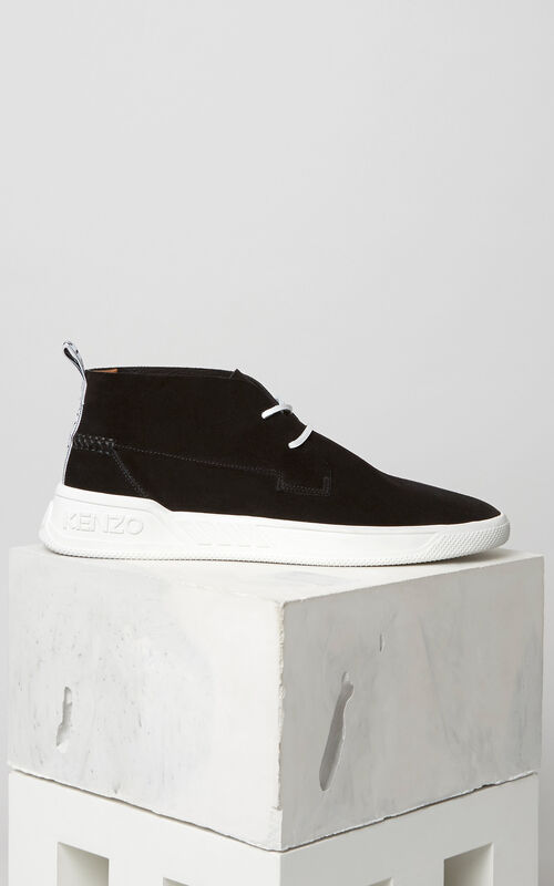 Carter Hightop sneaker, BLACK, KENZO