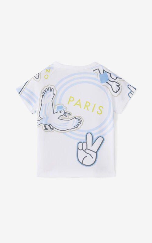 WHITE 'Cali Party' T-shirt. for women KENZO