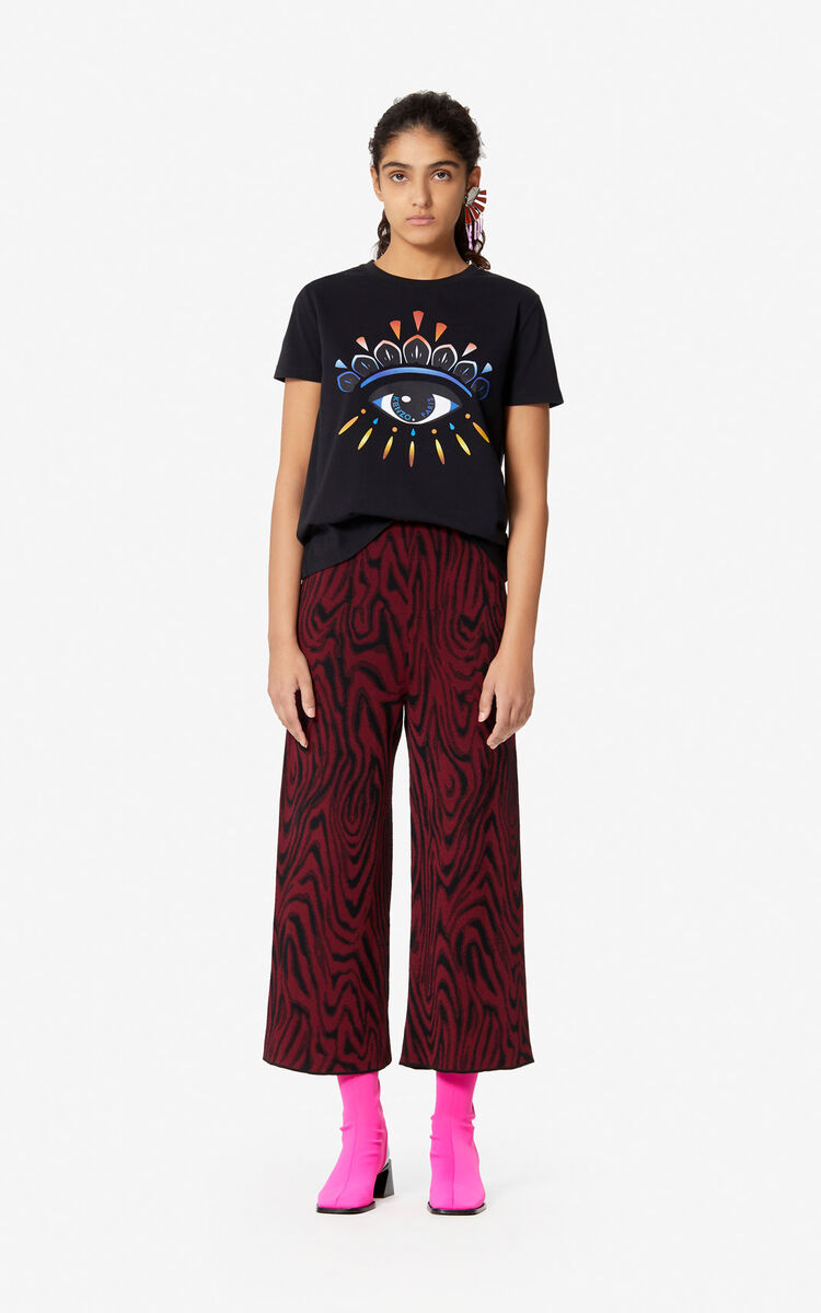 BLACK Gradient Eye T-shirt for women KENZO