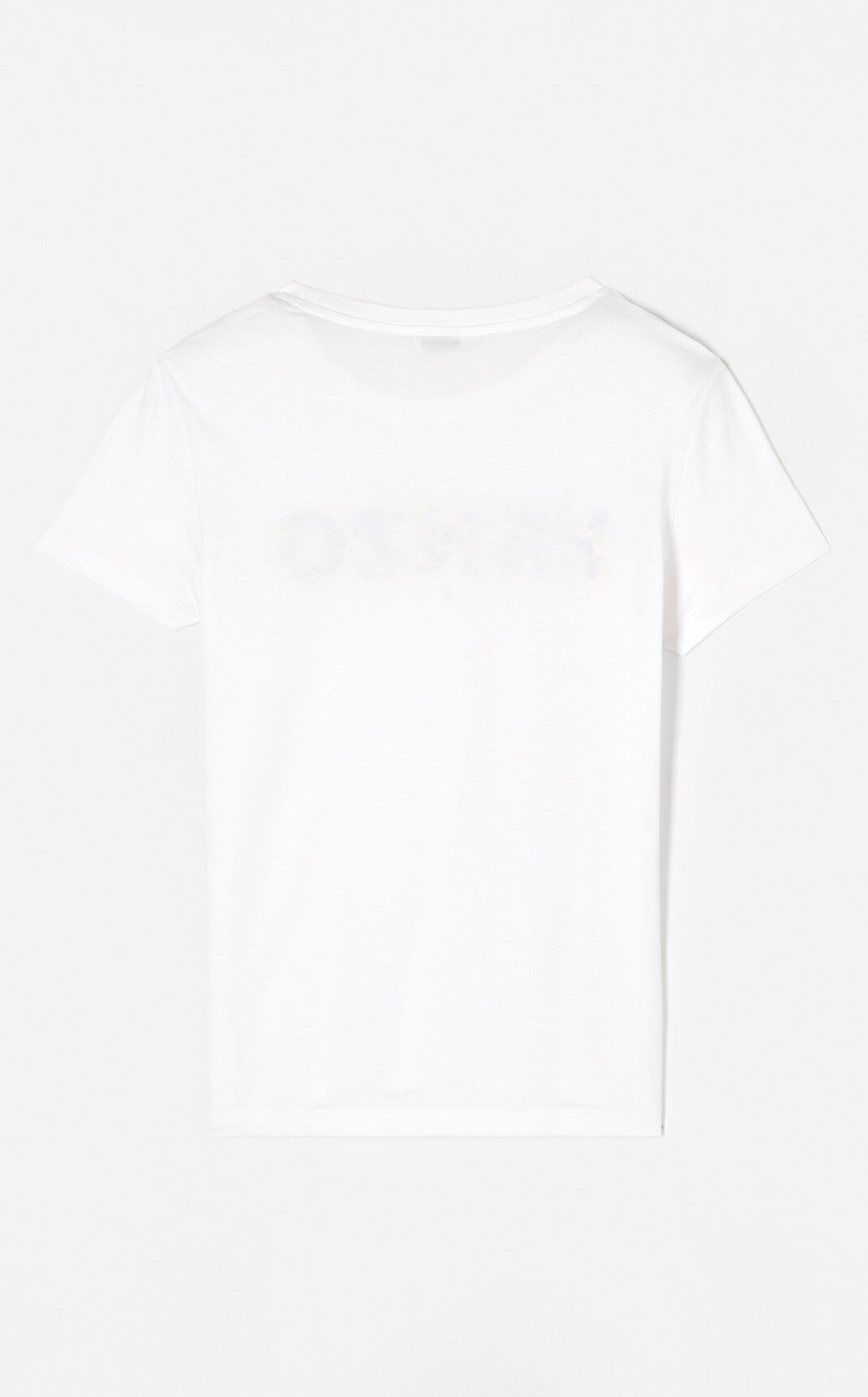 WHITE KENZO Paris 'Jackie Flowers' t-shirt for women