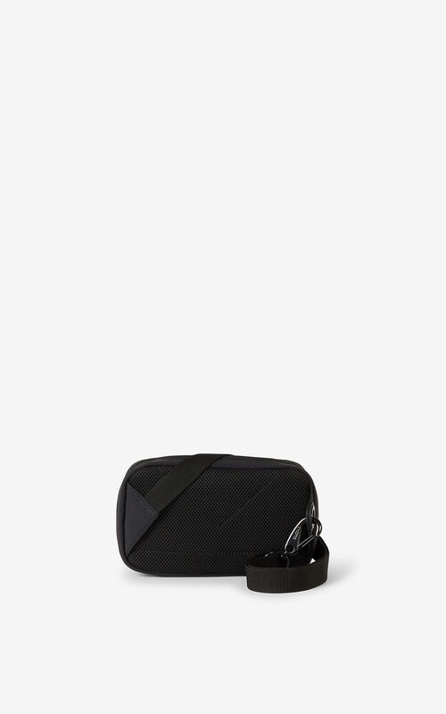 BLACK Tiger Crest shoulder bag for unisex KENZO