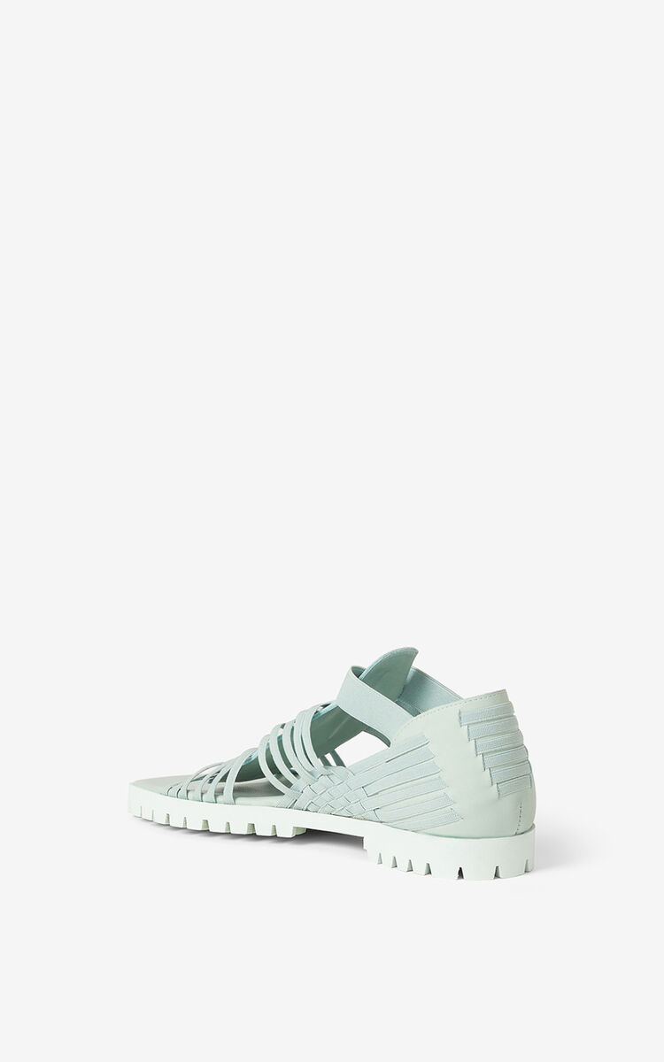 MINT Greek flat leather sandals for women KENZO
