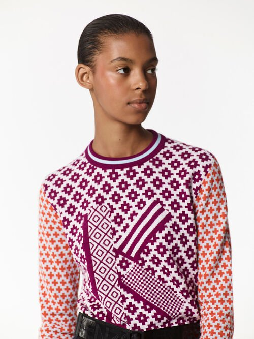 DEEP FUSCHIA Fair Isle' K Jumper  for women KENZO