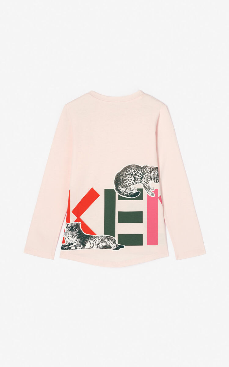 FADED PINK 'Crazy jungle' T-shirt for men KENZO
