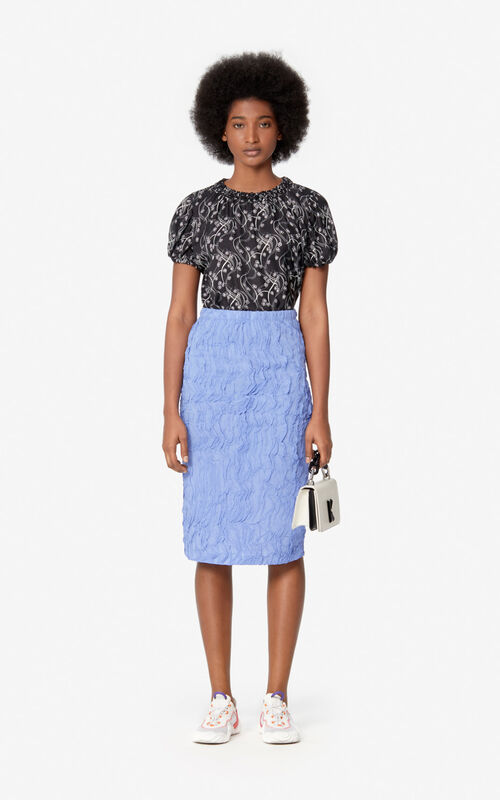 WISTERIA Textured midi skirt for women KENZO
