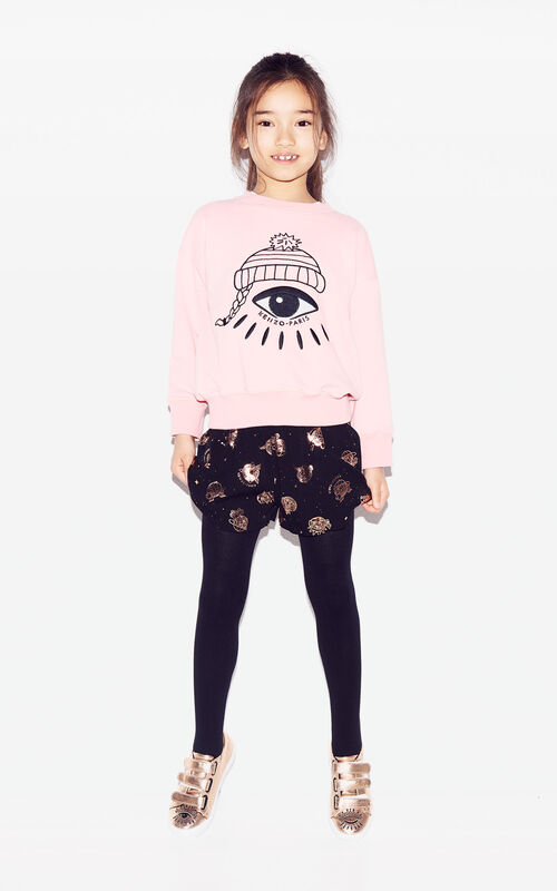 FLAMINGO PINK 'Cosmic' Eye sweatshirt for women KENZO
