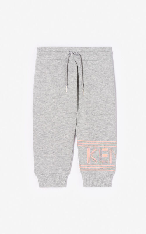 1c15394175 MIDDLE GREY Joggers with Kenzo logo for women ...