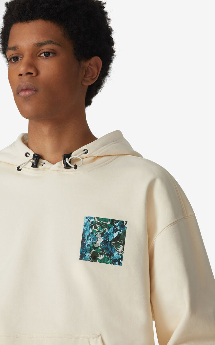 ECRU Oversized 'Brushed Camo' hoodie sweatshirt for women KENZO