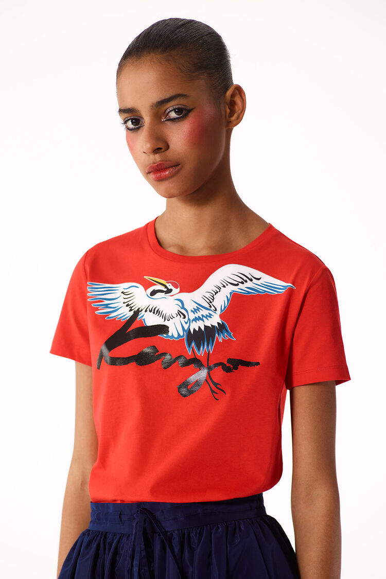 MEDIUM RED Crane' T-shirt for women KENZO