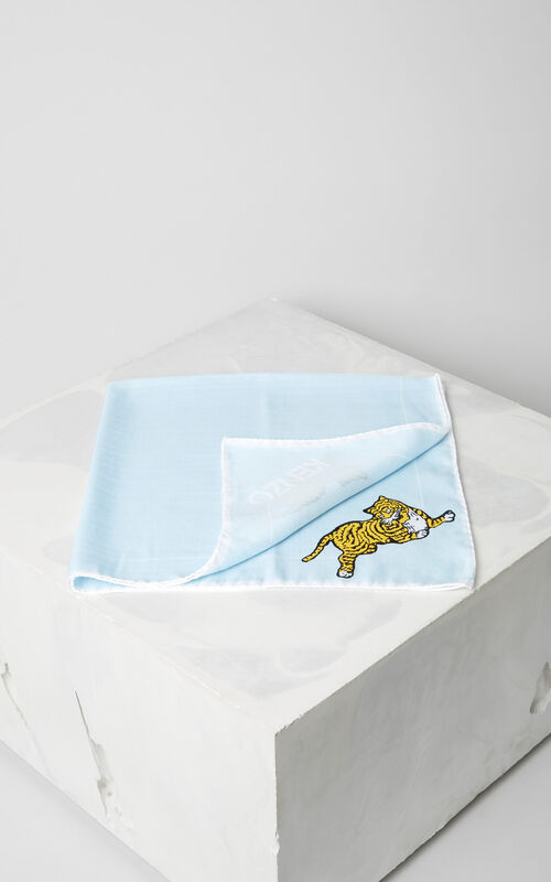 LIGHT BLUE Jumping Tiger' bandana for unisex KENZO