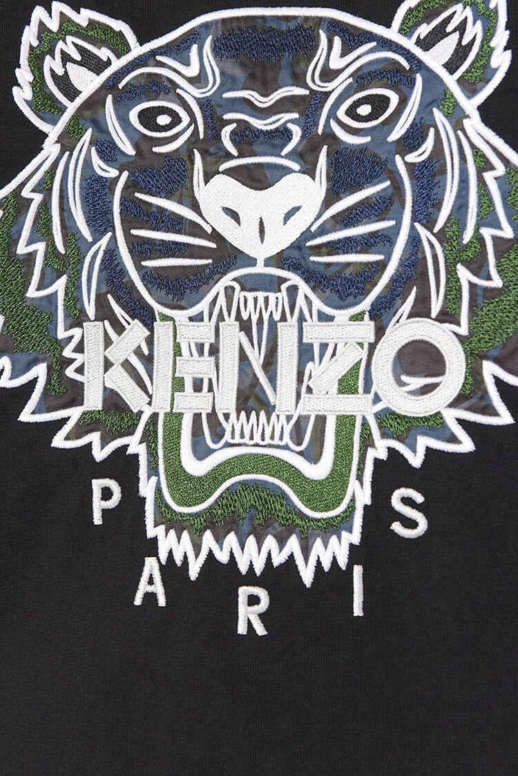 BLACK Northern Lights' Tiger T-shirt for women KENZO
